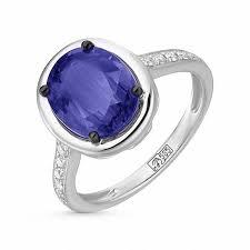 Кольцо c бриллиантами и кианитами, артикул R97-MR18044A ...