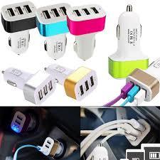 <b>Universal Triple</b> USB <b>Car</b> Charger Adapter USB Socket 3 Port <b>Car</b> ...