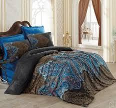 Постельное белье <b>Cotton box</b>. Royal Saten Pera Lacivert купить в ...