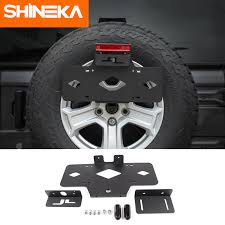high quality black steel rear spare tire holder license