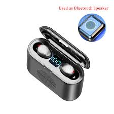 speaker function <b>wireless bluetooth earbuds</b> waterproof with display ...