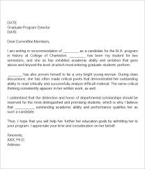 recommendation letter sample graduate student cover letter example cover letter graduate school
