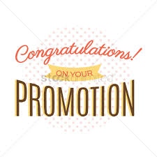 congratulatory message on job promotion vector image  congratulatory message on job promotion vector graphic
