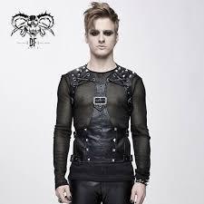 Devil Fashion <b>Personality Black</b> Gothic Punk Pu Leather Vest <b>Top</b> ...