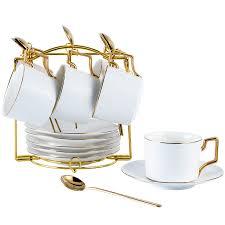 <b>Nordic</b> Style Elegant <b>Coffee Cups</b> and <b>Saucers</b> Handmade Ins ...