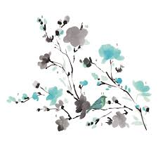 sun wall decal trendy designs: quick view deco blossom watercolor bird branch wall decal