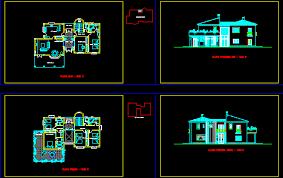 Villa   plans d in AUTOCAD DRAWING   BiblioCADVilla   plans d  dwgAutocad drawing