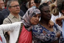 Image result for muslims attend mass in france to show solidarity