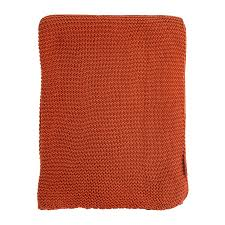 Купить <b>Плед жемчужной вязки терракотового</b> цвета Tkano TK18 ...