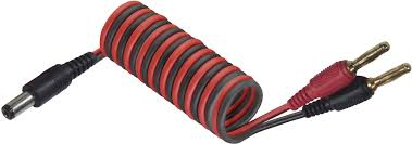 Futaba transmitter charging cable [2x Jack plug - <b>1x DC power plug</b> ...