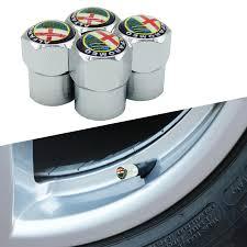 <b>4pcs Car Wheel</b> Tire Valve Cap Tyre Dust Cap For Alfa Romeo Mito ...