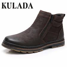 <b>KULADA Winter Boots</b> Men Snow Ankle Boots High Quality ...