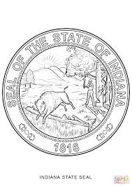 Small Picture Indiana State Seal coloring page Free Printable Coloring Pages
