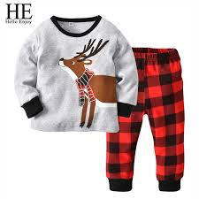 2018 <b>He Hello Enjoy Children</b> Clothing Christmas Outfits Red Long ...