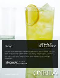 oneida catalogs sidra glassware