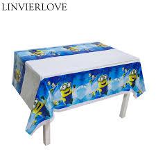 <b>1pc</b> Cartoon <b>Minion</b> Theme Plastic Tablecloth For Kids <b>Birthday</b> ...