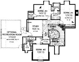 English country Style House Plans   Plan   Upper Second Floor Plan