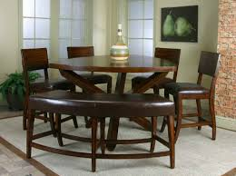 bench seating dining room  piece dining room set with a soft cornered triangle table the  chairs