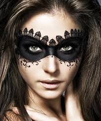 be mysterious instead of ing a bulky unfortable mask create one out of makeup with black liner and eye shadow this is a gorgeous look for your