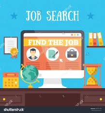 job search illustration job hunting job stock vector 267011240 job hunting job seeking or job searching concept vector