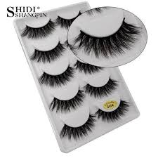 <b>SHIDISHANGPIN</b> 5 pairs <b>3d mink lashes</b> hand made makeup false ...