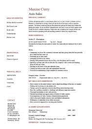 auto  s resume  selling  marketing  example  sample  template    auto  s resume