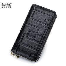 <b>BRIGGS</b> Brand Luxury <b>Genuine</b> Leather Women Long Wallet ...