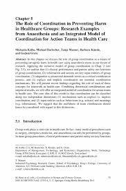 the role of coordination in preventing harm in healthcare groups inside