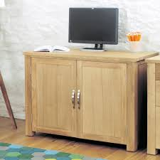 aston light oak hidden home office workstation aston solid oak hidden