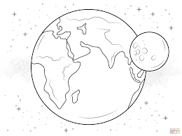 Small Picture Coloring Pages Kids Earth And Moon Coloring Pages Coloring