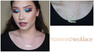 BRAND REVIEW | <b>Name Necklace</b> - YouTube