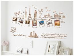 DIY Travel Eiffel Tower Photo Frame Wall Sticker Quote Decal Decor ... via Relatably.com