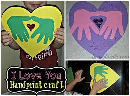 diy i love you handprint craft for kids great keepsake gift valentines day handprint heart craft