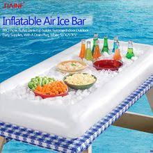 <b>JIAINF</b> inflatable Air Ice Bar drinks holder inflatable rectangle Water ...