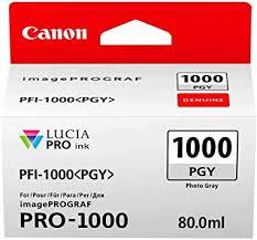 <b>Canon</b> Ink Cartridge <b>PFI</b>-<b>1000 PGY Photo</b> Grey 80 ml Original for ...