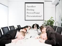 A boring presentation