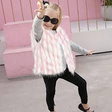 D-Star Kid <b>Girl</b> Stylish Fur Vest Baby <b>Girl</b> Winter <b>Warm Faux</b> Fur ...