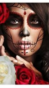 sugar skull make up i like this one because you don 39 t have to apply a base of white face paint first love it