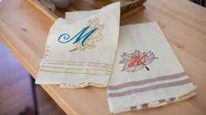 Fall <b>Embroidered</b> Tea Towels | Baby <b>Lock</b>