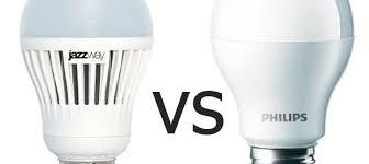 Сравнение <b>светодиодных ламп Philips</b> и Jazzway c цоколем <b>E27</b>
