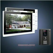 homsecur 7 wired hands free video audio home intercom with black camera dual way 1c1m for house flat