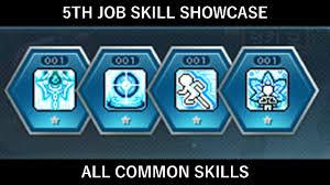 maplestory th job skill showcase all common skills maplestory 5th job skill showcase all 4 common skills