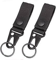 Magarrow <b>Tactical</b> Key Chain Belt Clip Molle <b>Webbing Strap</b> Hook ...