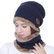 Wersoa™ Upgraded Quality <b>2 Pieces Set Winter</b> Beanie Cap Neck ...