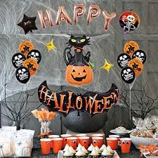 TOYANDONA 1 Set of Happy <b>Halloween Balloons</b> Set Pumpkin Foil ...