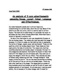 analysis of advertisement essay an analysis of  cars advertisements assessing image layout  page  zoom advertising analysis essay
