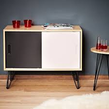 retro style sideboard vintage wooden cabinet two doors white and black furniture in home furniture wooden sideboard furniture