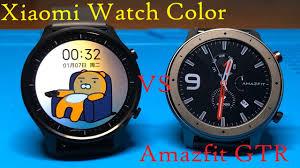 <b>Xiaomi Watch Color</b>. Обзор и сравнение с Amazfit GTR - YouTube
