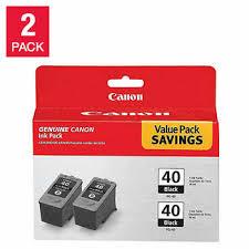<b>Canon PG-40</b> Black Ink Cartridge 2-pack