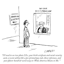 daily cartoon voting the new yorker daily cartoon 141021 voting